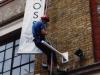 Fixing banners, Camden