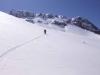 Hard slog up, ski mountaineering, Picos