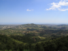 Looking west from the Troodos, Cyprus